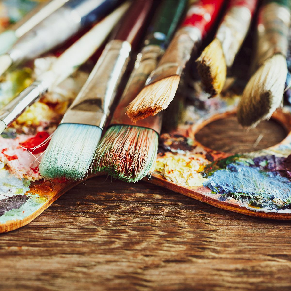 Peinture à l'huile et acrylique