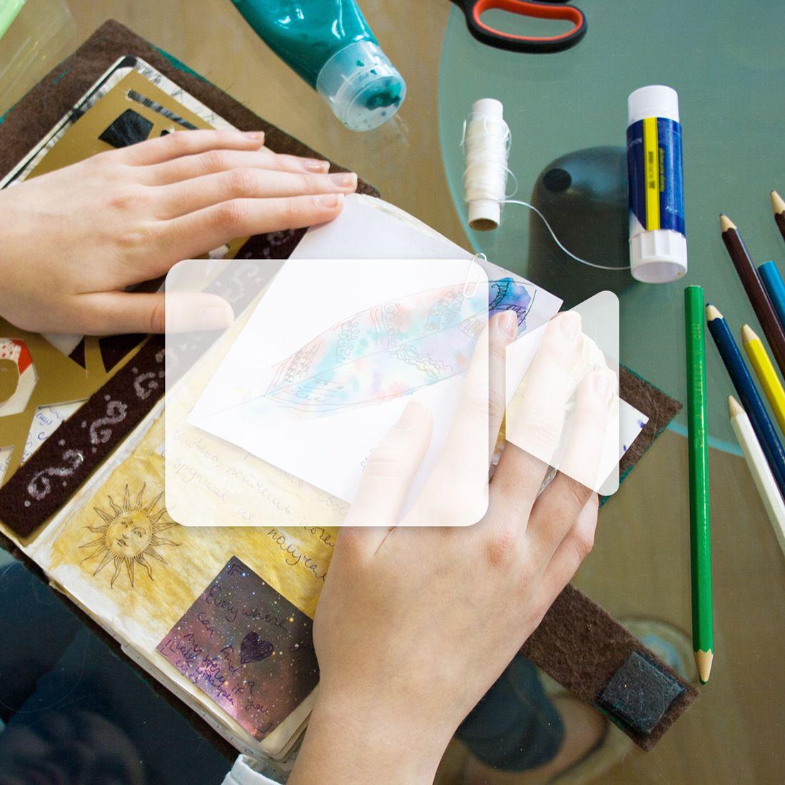 En ligne -  Approfondissement du journal créatif - Le collage