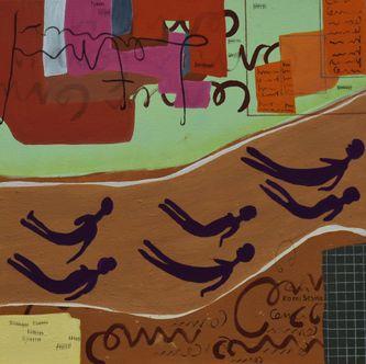 Oeuvre de l'artiste visuel Komi Seshie 01- LA Nage Synchronisée