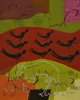 Oeuvre de l'artiste visuel Komi Seshie 08- LA Nage Synchronisée