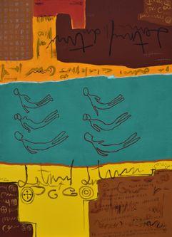 Oeuvre de l'artiste visuel Komi Seshie 10- LA Nage Synchronisée