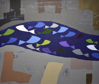 Oeuvre de l'artiste visuel Komi Seshie 13- LA Nage Synchronisée