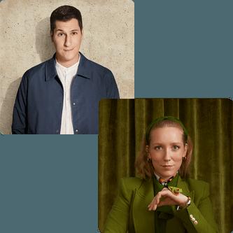 Les humoristes Guillaume Pineault et Maude Landry