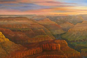 Oeuvre de l'artiste visuelle Monique Bergevin - Grand Canyon