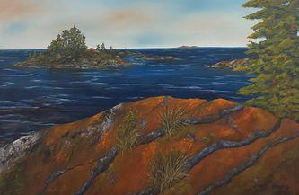 Oeuvre de l'artiste visuelle Monique Bergevin - Parc Killarney, Ontario