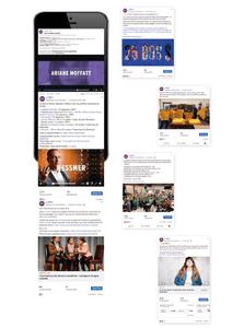 Exemples de publications sur les réseaux sociaux du MIFO