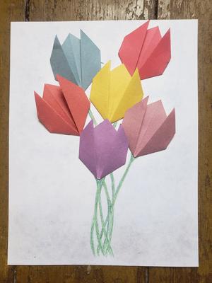 Tulipes en papier