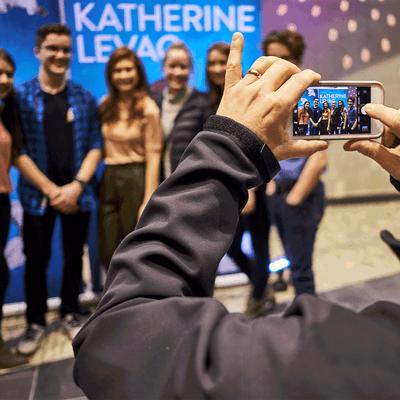 Prise de photo au spectacle de Katherine Levac