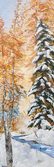 Oeuvre de l'artiste visuelle Monique Bergevin - Ruisseau l'hiver