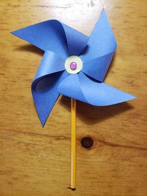 Vire-vent bleu