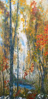 Oeuvre de l'artiste visuelle Monique Bergevin - Souffle d'automne