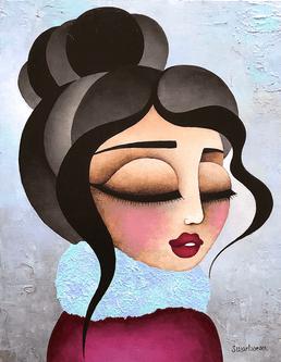 Alexia, oeuvre de l'artiste-peintre Stéphanie Martineau